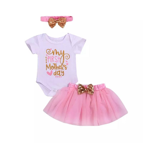 Baby Girls My First Mothers Day Tutu Set