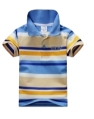 Boys Striped Golf T-Shirt