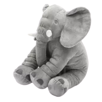 Baby Boys/Girls Grey Elephant Pillow