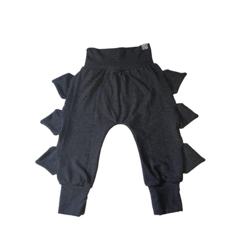 Dinosaur Trim Tracksuit Pants Black & Charcoal