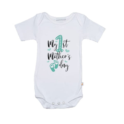Green My First Mothers Day Babygrow