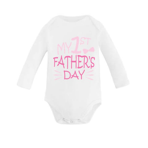 Pink My 1st Father's Day Babygrow