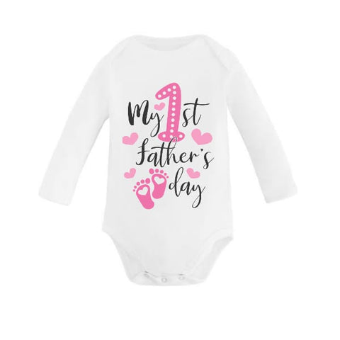Pink Feet My 1st Father's Day Babygrow