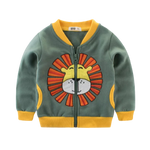 Boys Lion Zipper Jacket