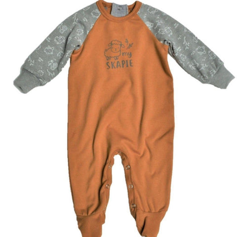 Babygrow Afrikaans Mustard & Grey My Skapie-Babygrow-Little Things