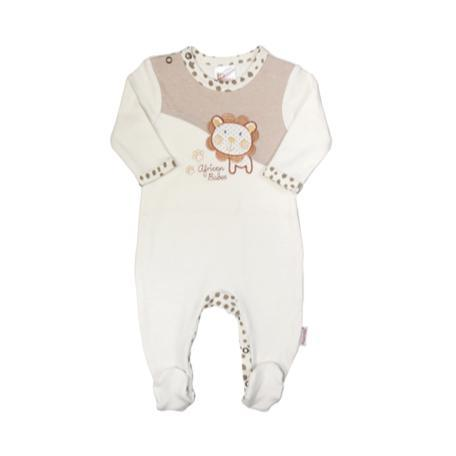 Babygrow Cream Lion-Babygrow-Little Things