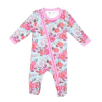 Babygrow Floral Aqua-Baby Grow-Little Things
