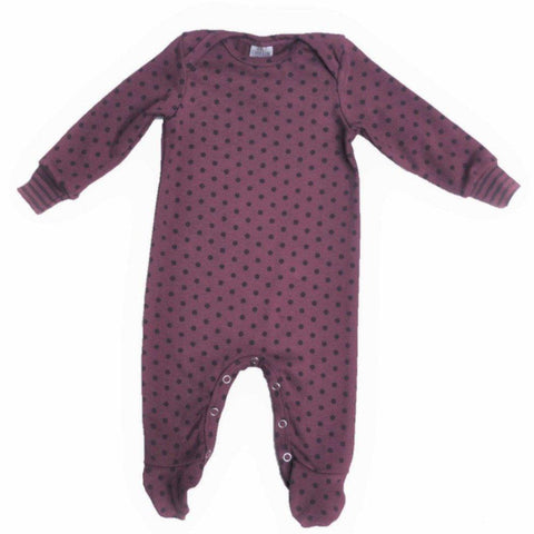 Babygrow Plum & Dots-Babygrow-Little Things