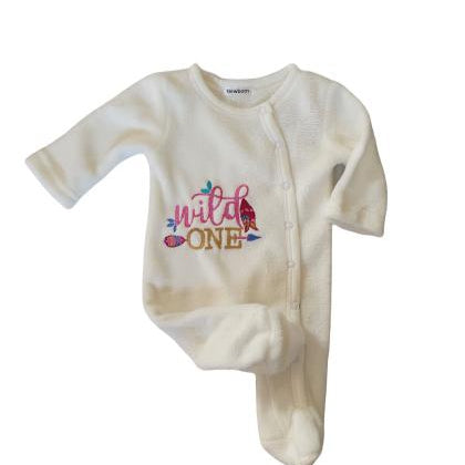 Babygrow Wild One Cream Fluffy Pink-Little Things