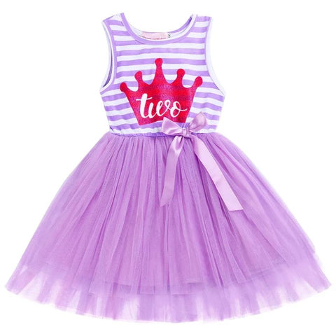 Birthday 2nd Purple Tutu Dress-Birthday Outfit-Little Things