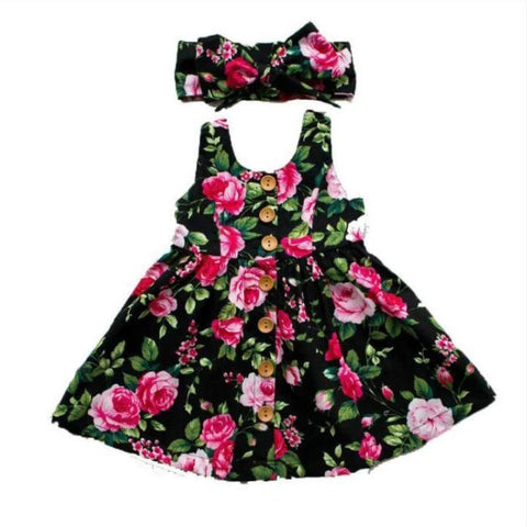 Dress Black Rose Floral-Dress-Little Things