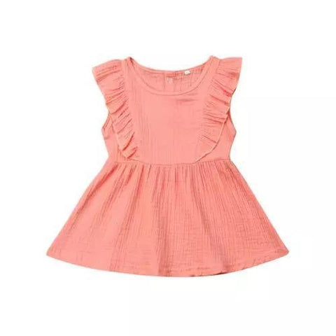 Dress Ruffle Sleeveless-Dress-Little Things