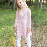 Dress Winter Diamond Print-Long sleeve dress-Little Things