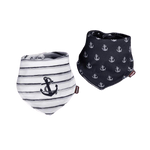 Baby Bandana Bib Set of 2 Sailor