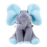 Blue Peekaboo Elephant Baby Toy