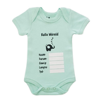 Baby Hallo Wêreld Babygrow Green Afrikaans