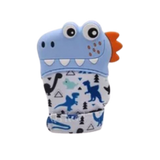Baby Teething Mitten Blue Dinosaur