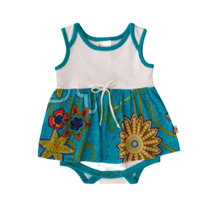 Baby Girls Jewel Turquoise Romper