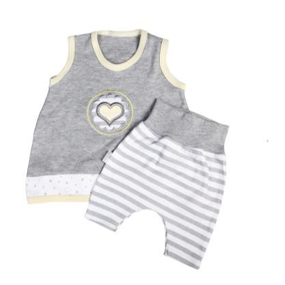 Grey & Yellow Set-Vest & Pants-Little Things