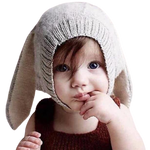 Baby Girls Red Bunny Hat