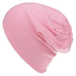 Girls Pink Slouch Beanie
