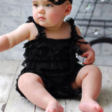 Lace Ruffle Romper Black-Lace Romper-Little Things