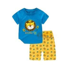 Lion Summer Pajamas-Pajamas-Little Things