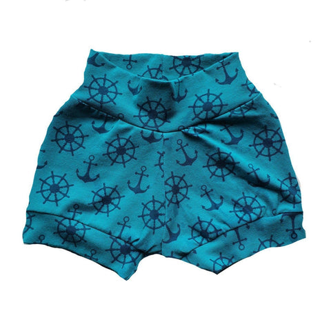 Little Things Aqua Sailor Shorts-Shorts-Little Things