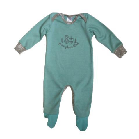 Mint Babygrow Pure Plaas Kind-Babygrow-Little Things