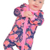 Navy Floral Babygrow-Baby Grow-Little Things