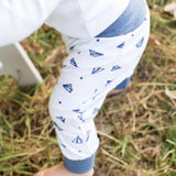 Pants Blue & White Print-Pants-Little Things