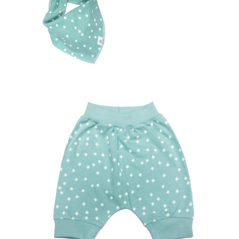 Pickalilly Aqua Crawlers & Matching Bib-Pants-Little Things
