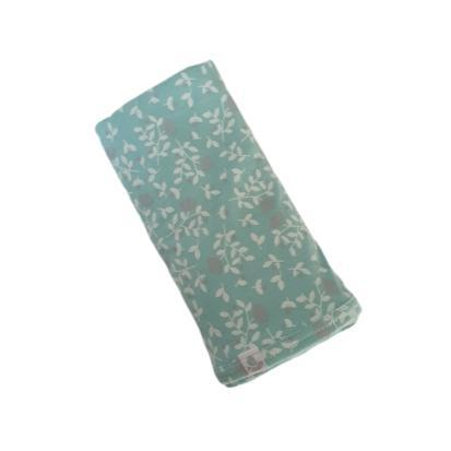Pickalilly Aqua Floral Receiving Blanket-Receiving Blanket-Little Things