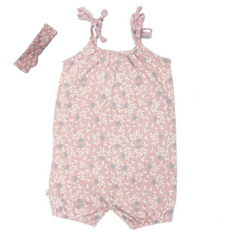 Pink Playsuit & Matching Headband-Playsuit-Little Things
