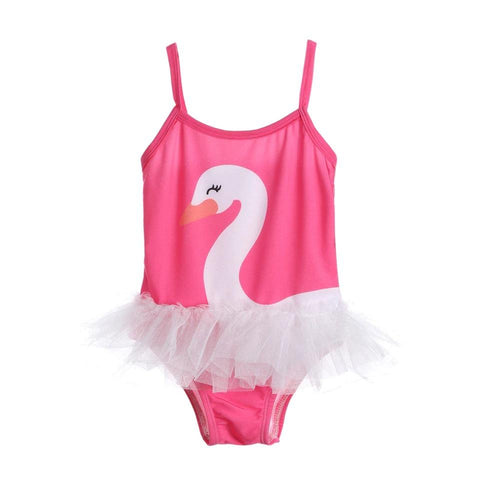 Pink Swan Swimsuit-Girls One Piece Costume-Little Things