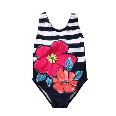 Striped Flower Costume-Girls One Piece Costume-Little Things