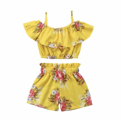 Summer Set Yellow Floral-Short Set-Little Things