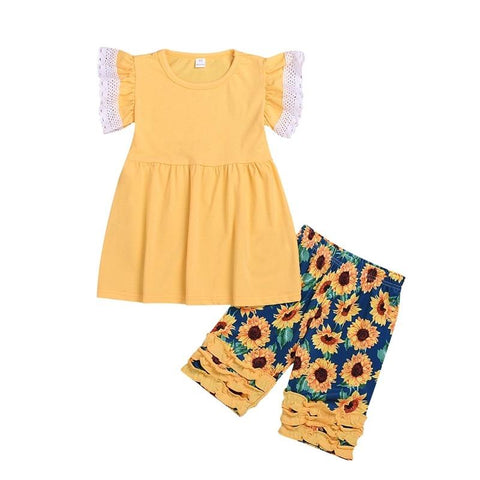 Sunflower Summer Set-Top and Shorts-Little Things