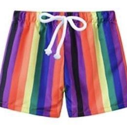 Swimming Trunks Rainbow-Swimming Shorts-Little Things