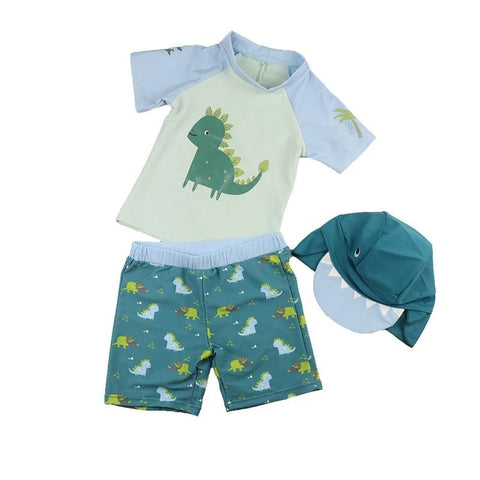 Swimsuit Dinosaur Set-Swimvest, shorts and hat-Little Things