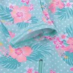 Swimsuit Floral Cyan UV50-Swimsuit-Little Things