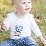 Winter Set Doggy-Long Sleeve Babygrow & Long Pants-Little Things