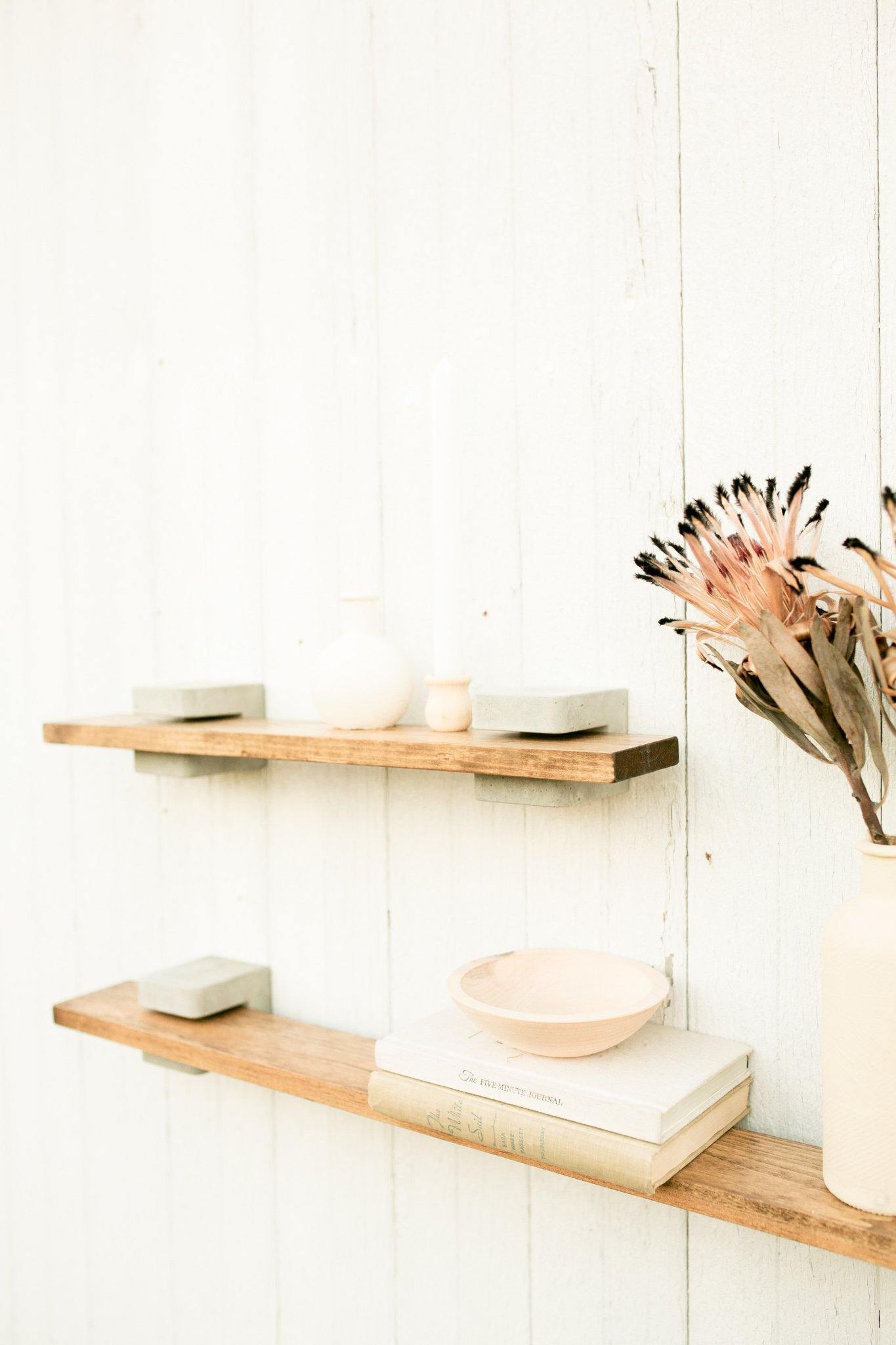 Concrete Bracket Shelf - Timber Made Design Co