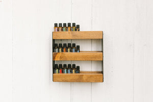 Essential Oil Wall Display - Timber Made Design Co