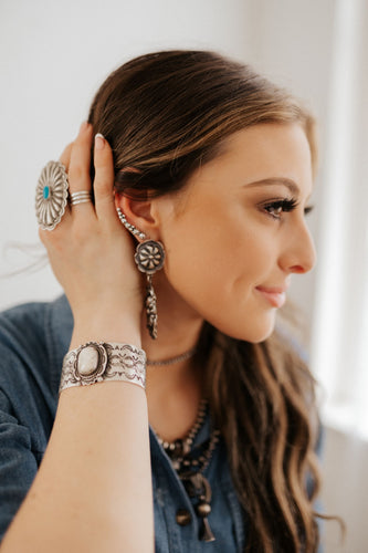 Concho and Bead Ear Climbers