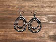 Load image into Gallery viewer, Double Loop Navajo Pearl Earrings