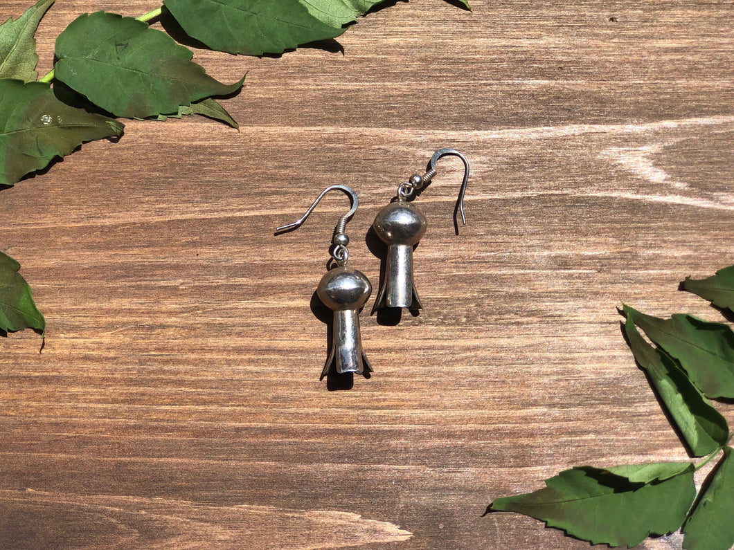 Large Squash Blossom Dangle Earrings