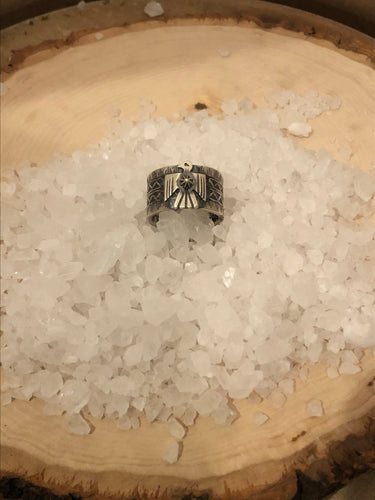 Navajo Darrel Cadman Sterling Thunderbird Ring
