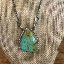 Load image into Gallery viewer, Red Mountain Turquoise Chain Necklace