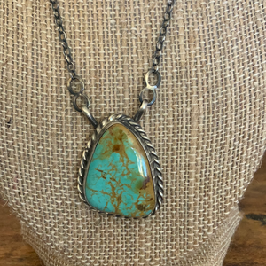 Red Mountain Turquoise Chain Necklace